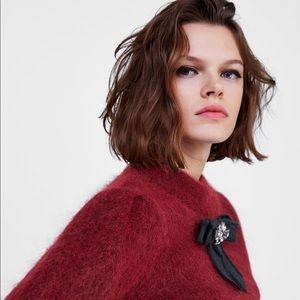 Zara Sweaters - Bejeweled sweater